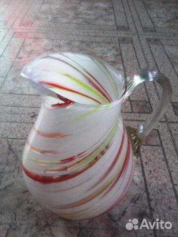 Кувшин цветное стекло 89183213531 купить 1