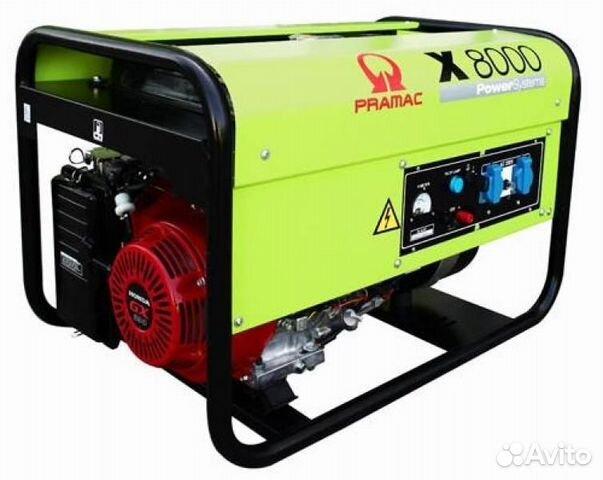 Бензогенераторы серии Х собираются Бензиновый генератор Pramac X 8000 с