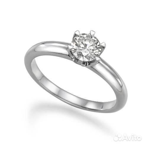Кольцо с бриллиантом принцесса - d4130