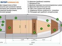 Лодка алюминиевая Виза Алюмакс - 415 Лайт