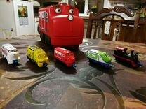 Паровоз Chugginton и кейс для хранения — Товары для детей и игрушки в Лесном Городке