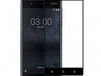 Защитное стекло Nokia 9 Черное (Полное покрытие)
