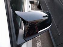 Накладки на зеркала М стиль BMW F30 черный глянец