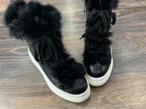 Ботинки зимние с мехом кроликом — Одежда, обувь, аксессуары в Санкт-Петербурге