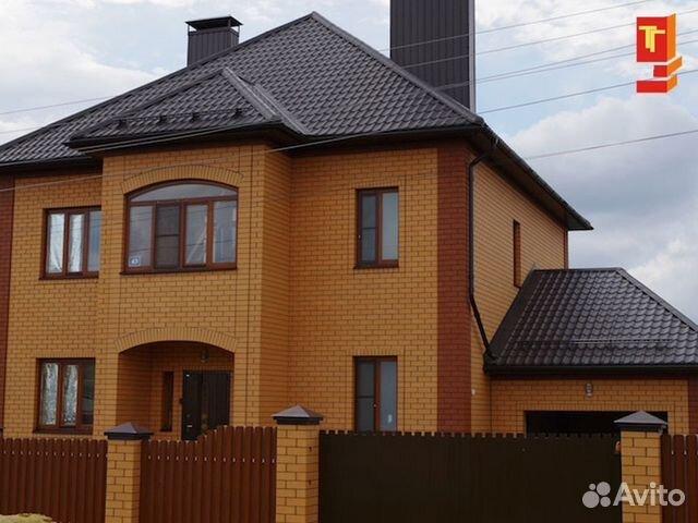 Дом из облицовочного кирпича цвет солома