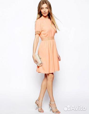 Платье персиковое купить в москве