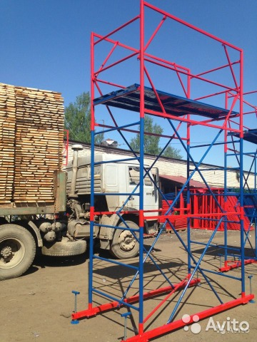 Строительные леса на колёсиках купить в спб