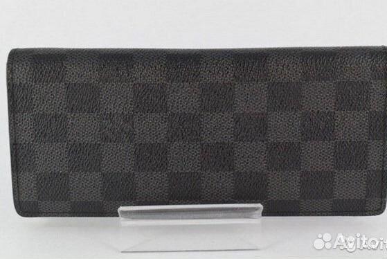 f0276fbf3d80 Виттон Кошелек Мужской Louis Vuitton Серый Портмон купить в Москве ...