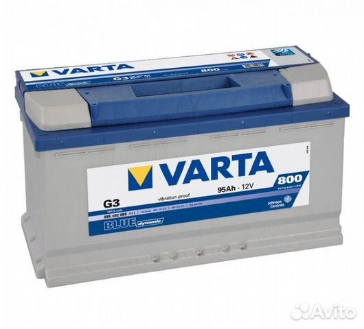 Аккумулятор автомобильный VARTA Blue G8 95L 830 А прям