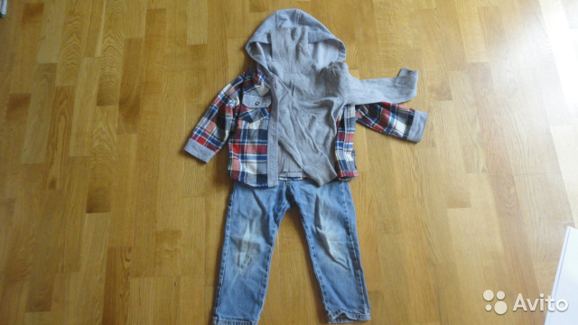 c8a0ebb1754 Джинсы рубашка свитер футболка 1-2г цена за всё