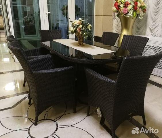 Плетеный стол с креслами из искусственного ротанга 89189817122 купить 1
