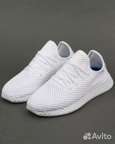 ad766f20 Мужские кроссовки Adidas deerupt белые купить в Москве на Avito ...