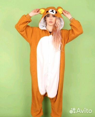 Пижама кигуруми медведь рыжий XL-175 96 купить в Пензенской области ... cfeb13ff75aa5