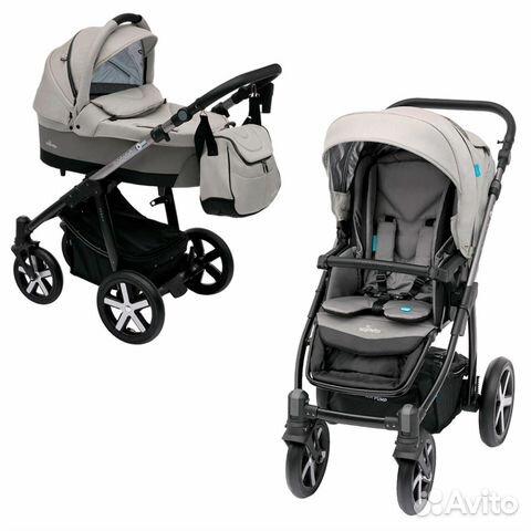 bc4b339ae9ab Коляска Baby Design Husky 2 в 1 07(grey) + Ветрови купить в Москве ...