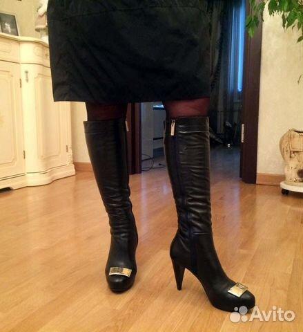 9b169b28b Новые итальянские сапоги зима на каблуке купить в Москве на Avito ...