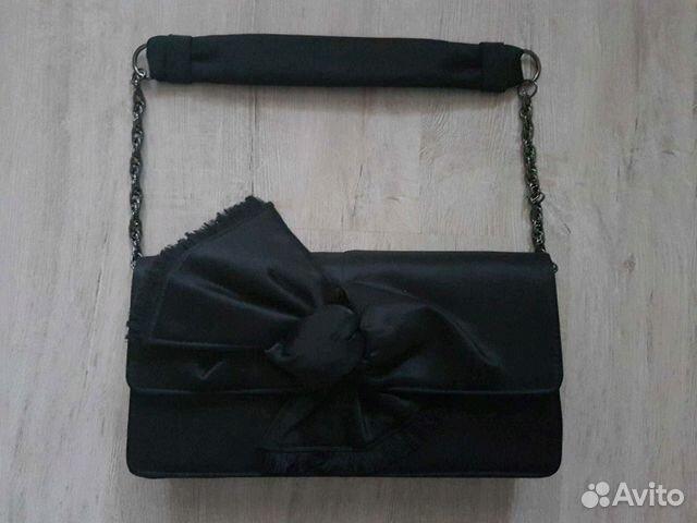 bc0509354ef9 Сумка-Клатч черная с бантиком (26 см на 14 см) купить в Московской ...