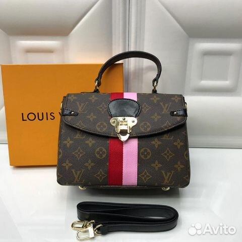 d072bd45 Сумки Louis Vuitton 24x18см канва/Нат кожа купить в Москве на Avito ...
