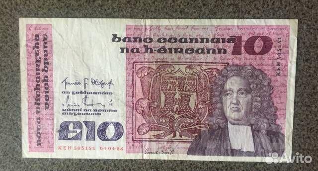 10 фунтов 1986 года. Ирландия. Состояние Оригинал купить 1