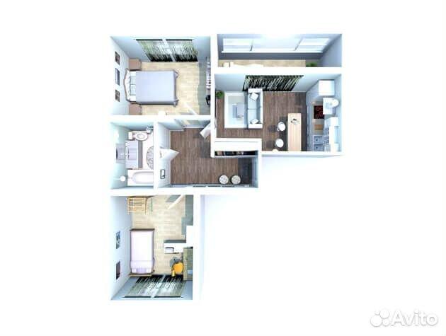 2-к квартира, 65.5 м², 8/10 эт. 89372255196 купить 5