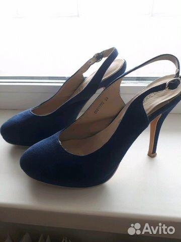 Босоножки темно-синие 39 размер