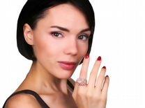 Золотое кольцо с кораллом и бриллиантами 1.75ct