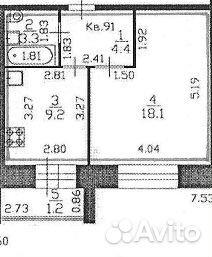 1-к квартира, 38.3 м², 5/9 эт.