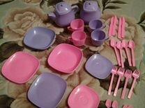 Набор детской посуды в сумке