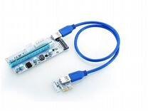 Райзера для видеокарт белые. SATA molex 6pin