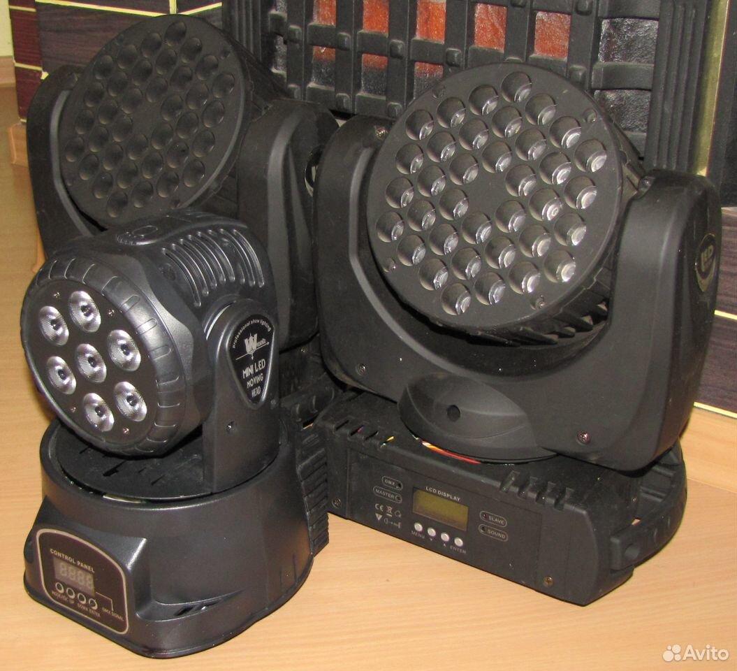 Проф светомузыка 3 вращающиеся головы LED микрофон  89128899109 купить 9