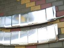 Хром заднего бампера мерседес GL 164 рест