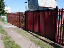 Ворота откатные 3,5*2 м со встроенной калиткой